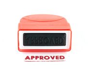 Approved stamp. Isolated on white background Royalty Free Stock Images