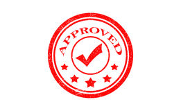 Approved. stamp. red round grunge approved sign. Royalty Free Stock Image