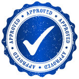 Approved stamp Royalty Free Stock Photos