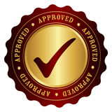 Approved stamp Royalty Free Stock Images