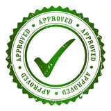 Approved stamp Royalty Free Stock Image