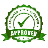 Approved stamp. Approved rubber stamp green grunge isolated on white background royalty free illustration