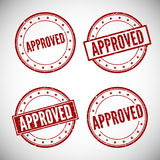 Approved stamp, vector illustration Stock Image