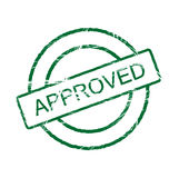 Approved stamp (vector included) Stock Photos