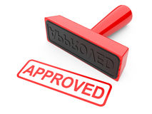 Approved stamp Royalty Free Stock Photo