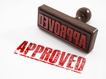 Approved stamp. On white background royalty free stock photography
