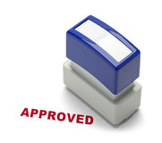 Approved Stamper. Business Aprroval Stamper Isolated on a White Background Royalty Free Stock Photo