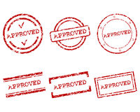Approved stamps Stock Images