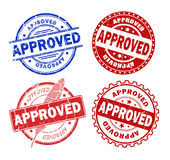 Approved stamps Royalty Free Stock Photos