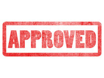 Approved text sign label stamp. Royalty Free Stock Images