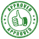 Approved thumb rubber stamp Royalty Free Stock Photography
