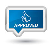 Approved (thumbs up icon) prime blue banner button Royalty Free Stock Images