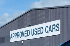 Approved Used Cars sign Stock Photo