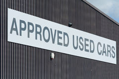 Approved Used Cars sign Royalty Free Stock Photos