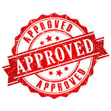 Approved vector stamp Stock Photography