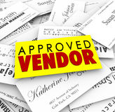 Approved Vendor Business Cards Preferred Provider Best Service C Stock Photography
