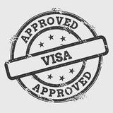 Approved visa rubber stamp isolated on white. Stock Images