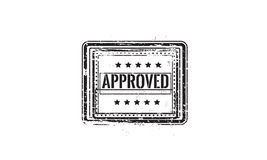 Approved warranty. Icon grunge vintage retro rubber stamp Royalty Free Stock Photos