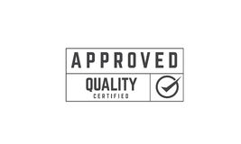 Approved warranty. Approved icon  retro stamp grunge vintage rubber Stock Image