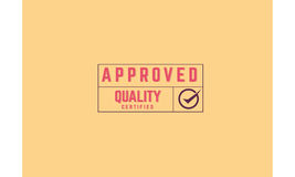 Approved warranty icon. Vintage rubber stamp Stock Photography