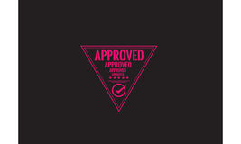 Approved warranty icon. Vintage rubber stamp Royalty Free Stock Photos