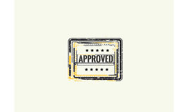 Approved warranty icon. Vintage rubber stamp Royalty Free Stock Photography