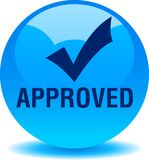 Approved web button. Tick - vector illustration on isolated white background vector illustration