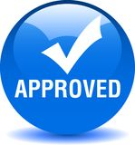 Approved web button royalty free illustration