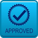 Approved web button vector illustration
