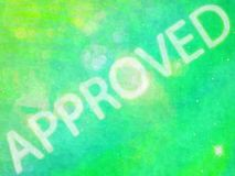 Approved wording Royalty Free Stock Photos