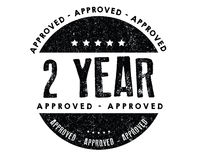 Approved 2 year. Icon Stock Photo