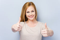 She approves! Royalty Free Stock Image