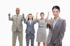 Approving business team Royalty Free Stock Photography