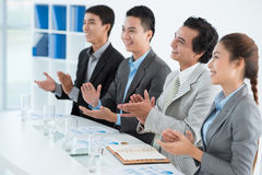 Approving clapping Stock Photography
