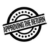 Approving The Return rubber stamp Royalty Free Stock Photos