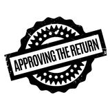 Approving The Return rubber stamp Royalty Free Stock Photography
