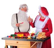Approving Santa's Work Royalty Free Stock Photos
