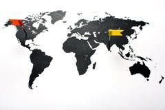Approvisionnement à l'extérieur, USA vers l'Inde Photographie stock