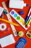 Approvisionnements d'école Images libres de droits
