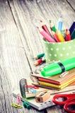 Approvisionnements d'école colorés Image libre de droits