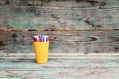 Approvisionnements d'école De nouveau aux éléments de conception d'école Image stock