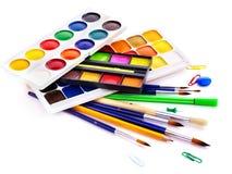 Approvisionnements d'art d'école Photographie stock