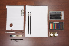 Approvisionnements d'art de peinture Photographie stock libre de droits
