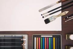 Approvisionnements d'art de peinture Image stock