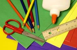 Approvisionnements d'école Photo stock