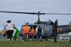 Approvisionnements d'hélicoptère Images stock