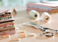 Approvisionnements de couture Image libre de droits