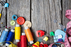 Approvisionnements de couture Image stock