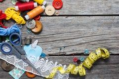 Approvisionnements de couture Images stock