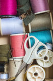 Approvisionnements de couture Photographie stock libre de droits